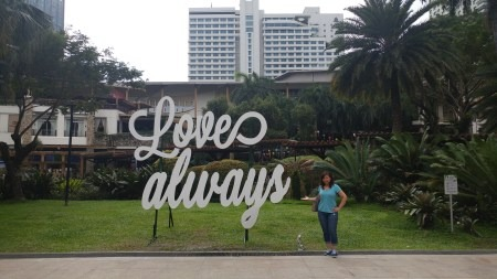 """Love Always"" sign in the Philippines"